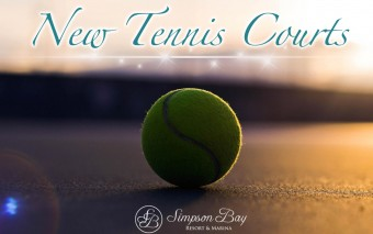 New Tennis Courts at Simpson Bay Resort & Marina