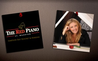 Liz Strauss performing at The Red Piano in St. Maarten