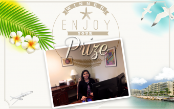 "Winner of our ""WIN a Sint Maarten Holiday!"" Contest"